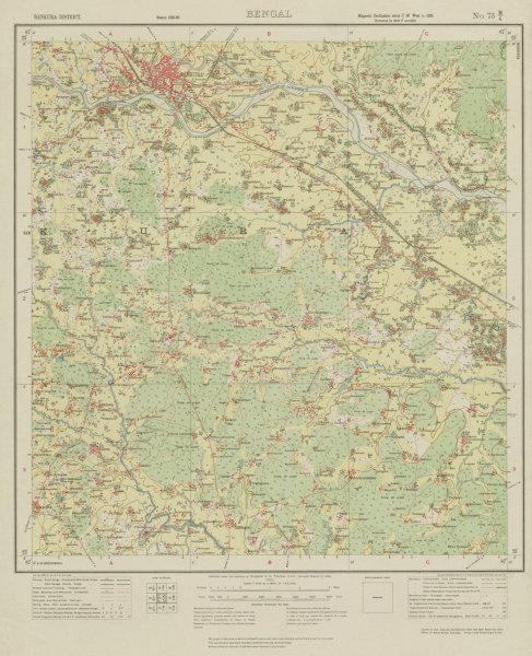 Associate Product SURVEY OF INDIA 73 M/4 West Bengal Bankura Onda Taldangra Dwarkeswar 1930 map