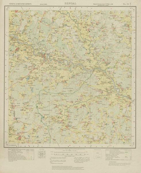 Associate Product SURVEY OF INDIA 73 N/1 West Bengal Jangal Mahal Simlapal Panchmura 1931 map