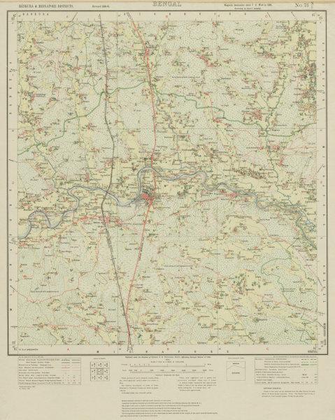 Associate Product SURVEY OF INDIA 73 N/5 West Bengal Garhbeta Dhadika Raskundu Chitrang 1931 map