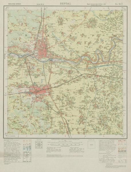 Associate Product SURVEY OF INDIA 73 N/7 West Bengal Medinipur Kharagpur Kansabani River  1933 map