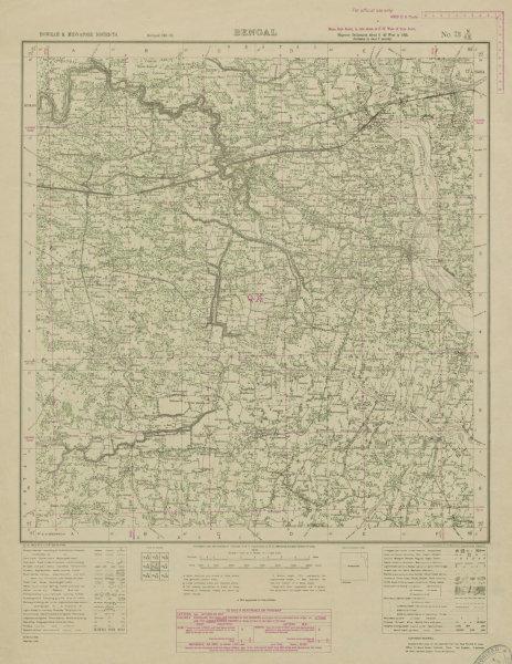 Associate Product SURVEY OF INDIA 73 N/SE West Bengal Tamluk Debra Nandakumar Panskura 1942 map