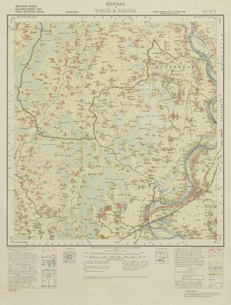 Associate Product SURVEY OF INDIA 73 O/1 West Bengal Odisha Jaleswar Amarada Ghagara 1932 map