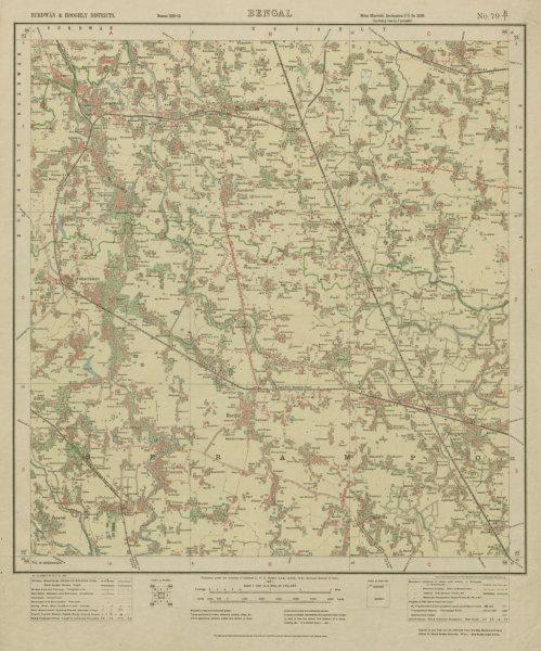 Associate Product SURVEY OF INDIA 79 B/1 West Bengal Singur Haripal Dhaniakhali 1921 old map