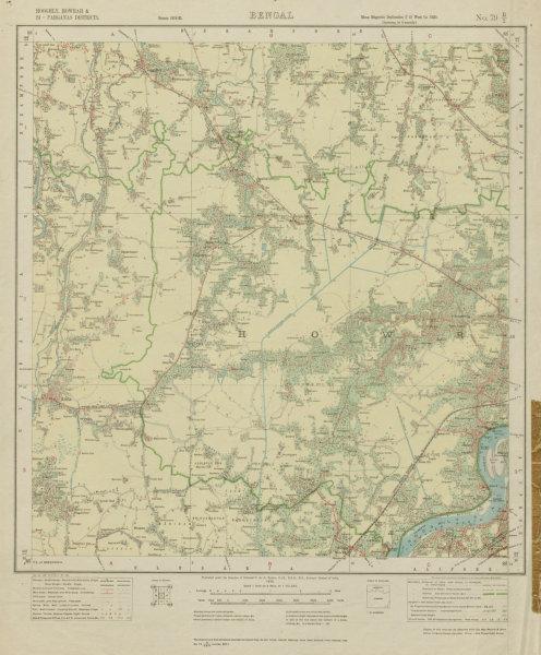 Associate Product SURVEY OF INDIA 79 B/2 West Bengal Howrah Bargachia Amta Jangipara 1922 map
