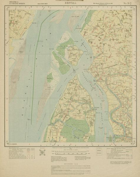 Associate Product SURVEY OF INDIA 79 C/1 West Bengal Hooghly Estuary Kakdwip Sagar Island 1924 map