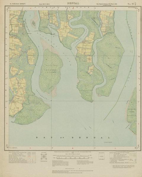 Associate Product SURVEY OF INDIA 79 C/6 West Bengal Sibrampur Sundarbans Bakkhali 1922 old map