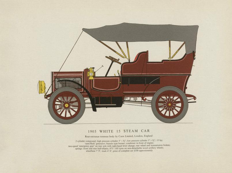 Associate Product White 15 steam car rear-entrance tonneau (1905) print. George Oliver 1959