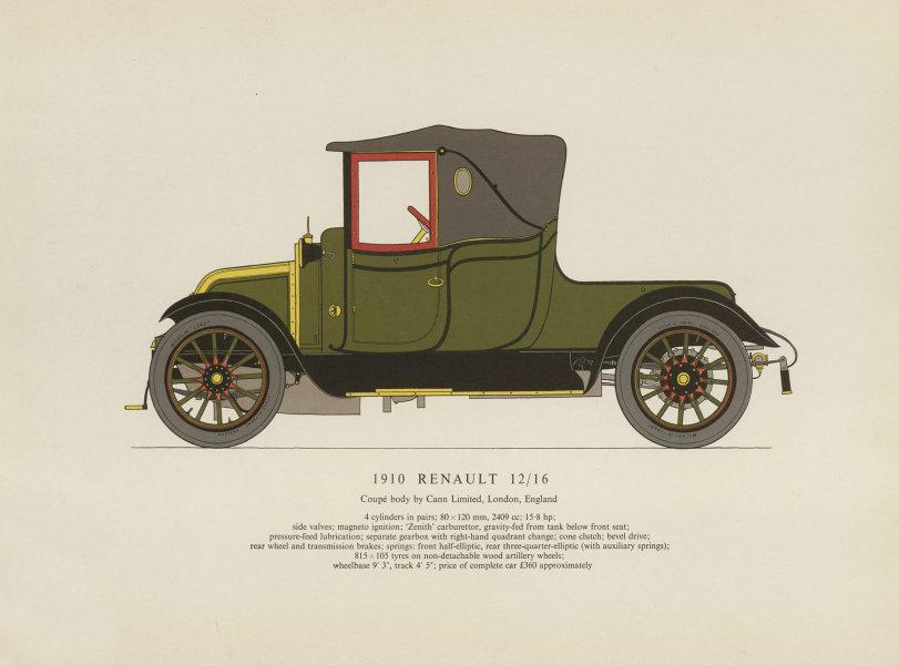 Associate Product Renault 12/16 doctor's coupé (1910) motor car print. George Oliver. France 1959