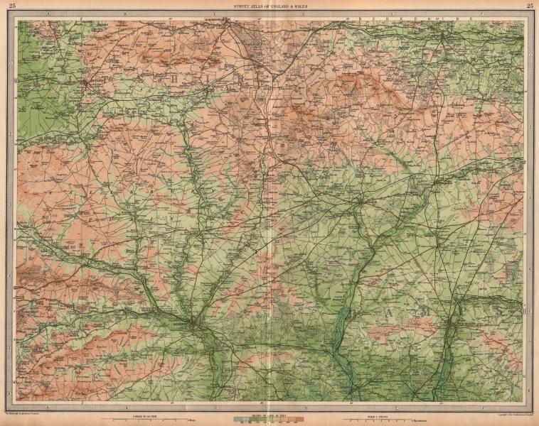 Associate Product SALISBURY PLAIN Winchester Devizes Marlborough Wiltshire Hampshire 1939 map
