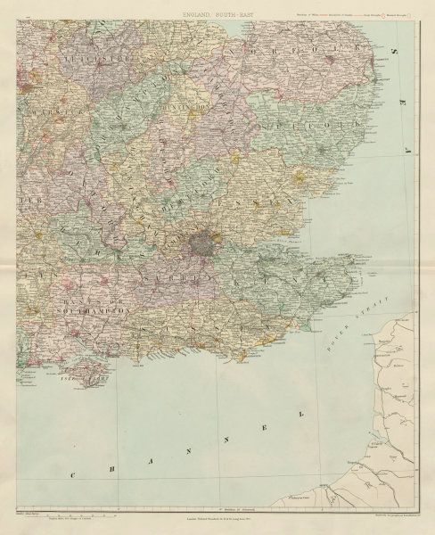 Map East Of England.Details About South East England Counties Boroughs Large 62x50cm Stanford 1904 Old Map