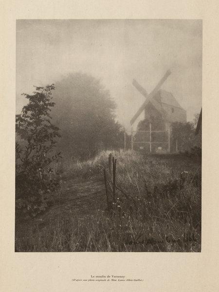 Le Moulin de Verzenay, Montagne de Reims, Champagne vineyards. Mumm 1944 print