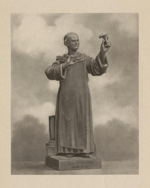 Associate Product Dom Perignon 1638-1715, French Benedictine monk. Developer of Champagne 1944
