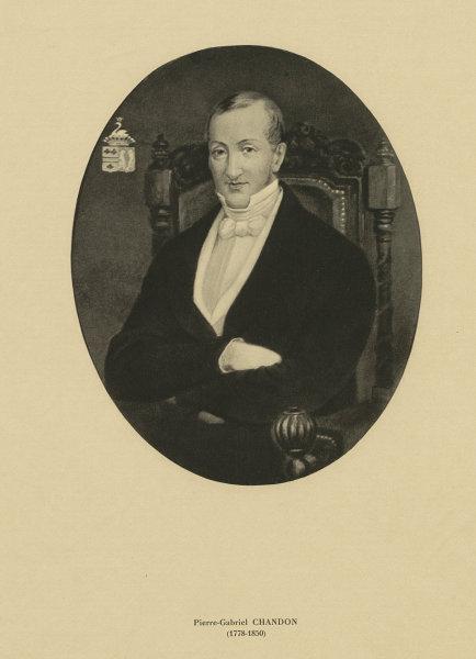 Associate Product Pierre-Gabriel Chandon (1778-1850). Champagne 1944 old vintage print picture