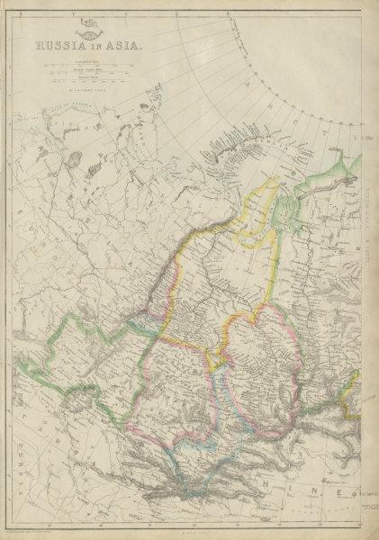 Associate Product RUSSIAN IN ASIA West sheet. Siberia. Okrugs Oblasts Krais &c. LOWRY 1863 map