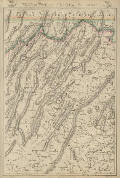 Associate Product US CIVIL WAR Seat of War in Virginia sheet 2. Shenandoah. WV. WELLER 1863 map