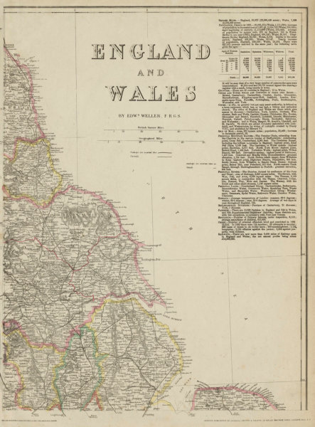 Associate Product ENGLAND NORTH EAST COAST Yorks Lincs Durham Northumbs. >Berwick. WELLER 1863 map