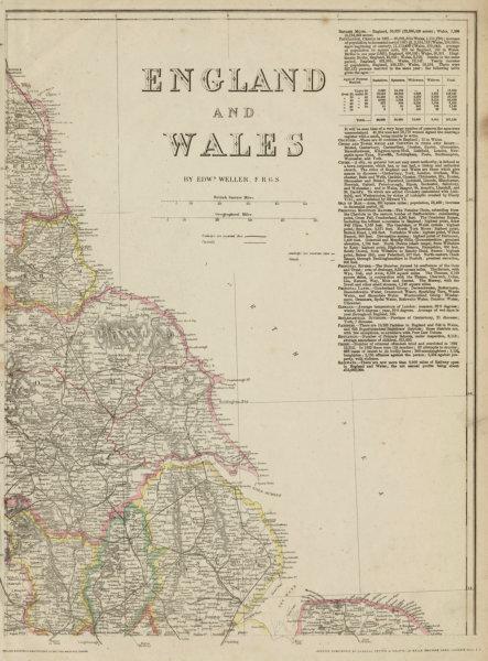 Associate Product ENGLAND NORTH EAST COAST Yorks Lincs Durham Northumbs. >Berwick. WELLER 1862 map