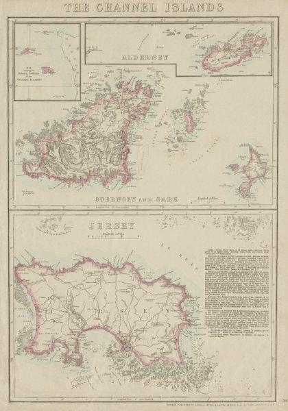 Associate Product THE CHANNEL ISLANDS. Guernsey Jersey Alderney Sark & Herm. WELLER 1863 old map