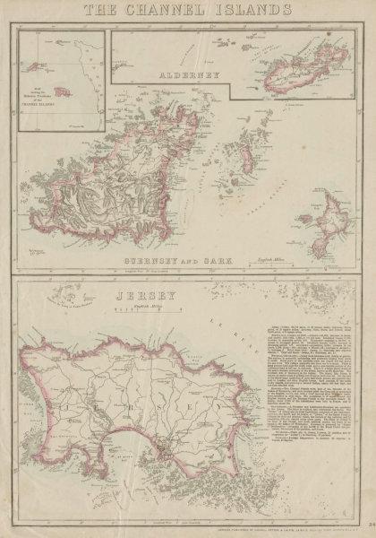 Associate Product THE CHANNEL ISLANDS. Guernsey Jersey Alderney Sark & Herm. WELLER 1862 old map