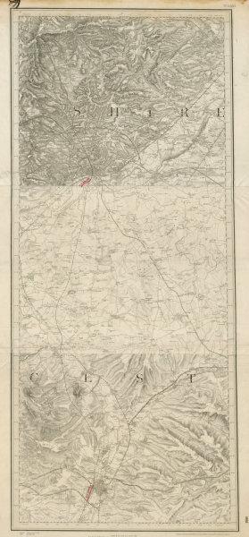 Associate Product MS&LR/Great Central Leicester-Loughborough-Nottingham ORDNANCE SURVEY 1893 map