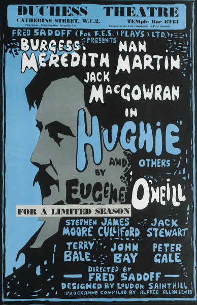 Duchess Theatre. Hughie & Others. Burgess Meredith, Jack MacGowran. Sadoff 1963