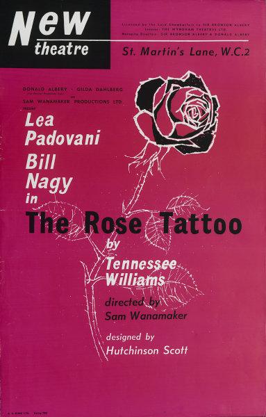 Associate Product New Theatre. The Rose Tattoo. Tennessee Williams. Bill Nagy. Sam Wanamaker  1959