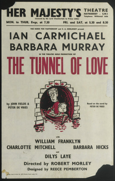Associate Product Her Majesty's Theatre. Tunnel of Love. Carmichael, Barbara Murray. Morley 1957
