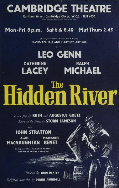 Associate Product Cambridge Theatre. The Hidden River. Goetz. Jameson. Leo Genn Ralph Michael 1959