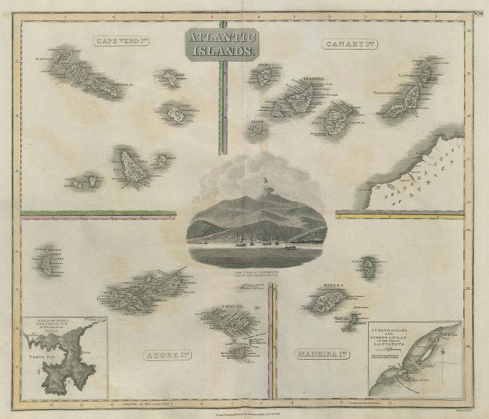 Atlantic Islands. Canaries Madeira Azores Canaries. Tenerife. THOMSON 1817 map