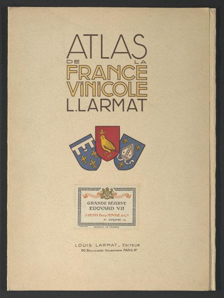 Louis Larmat. Atlas de La France Vinicole cover. Eaux-de-Vie - Cognac 1947