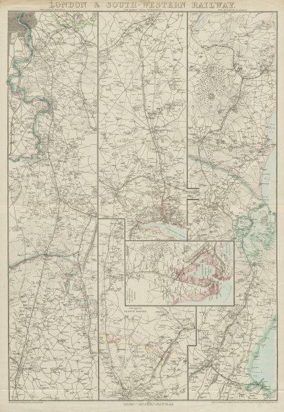 Associate Product LONDON & SOUTH-WESTERN RAILWAY. Portsmouth Southampton Weymouth.WELLER 1862 map