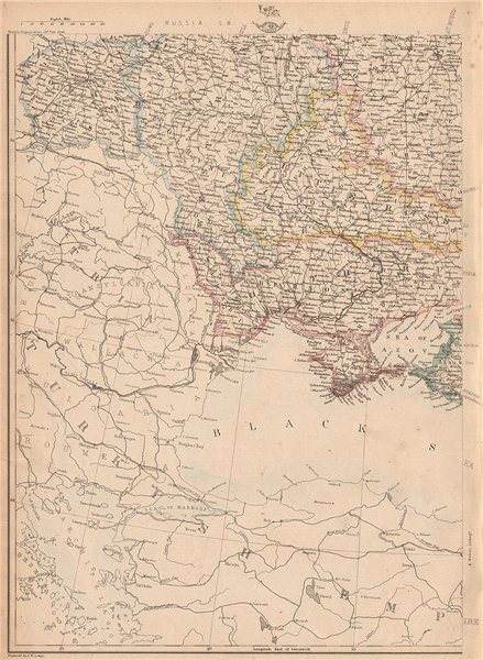 Associate Product RUSSIA IN EUROPE SW. Ukraine & Poland. JW LOWRY for the Dispatch atlas 1862 map
