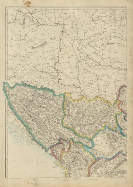 Associate Product BALKANS NW. Bosnia Servia Serbia Montenegro Albania. ETTLING. Dispatch 1862 map