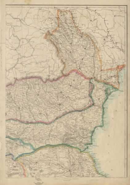Associate Product BALKANS NE.Moldavia Bulgaria Wallachia Rumilia Dobruja Romania.ETTLING 1862 map