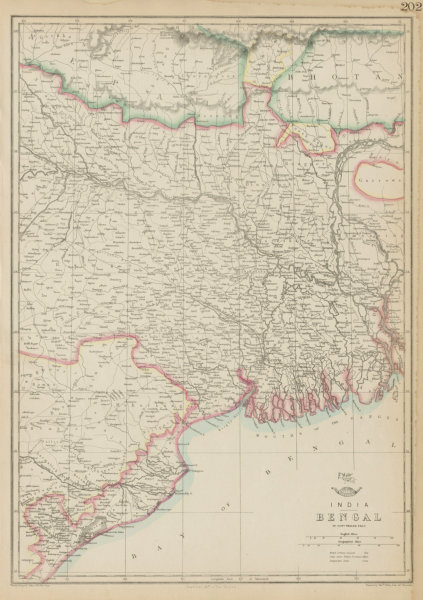 Associate Product BENGAL. East Indian railway Calcutta-Raniganj. WELLER. Dispatch atlas 1862 map
