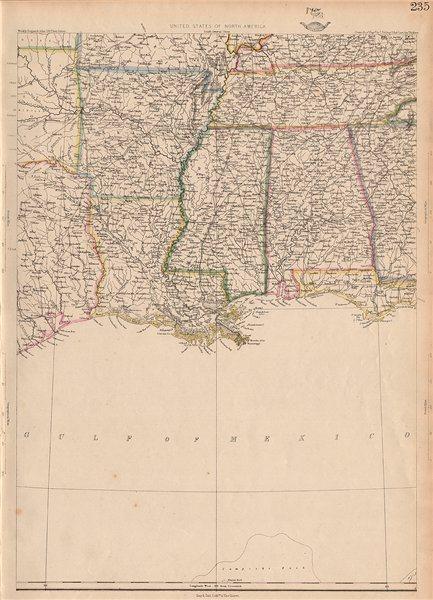 Associate Product USA DEEP SOUTH. Louisiana Alabama Mississippi Tennessee AR. ETTLING 1862 map