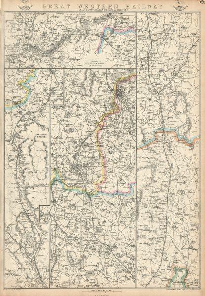 Associate Product GREAT WESTERN RAILWAY 2. Didcot to Bath, Bristol & Cheltenham. WELLER 1863 map