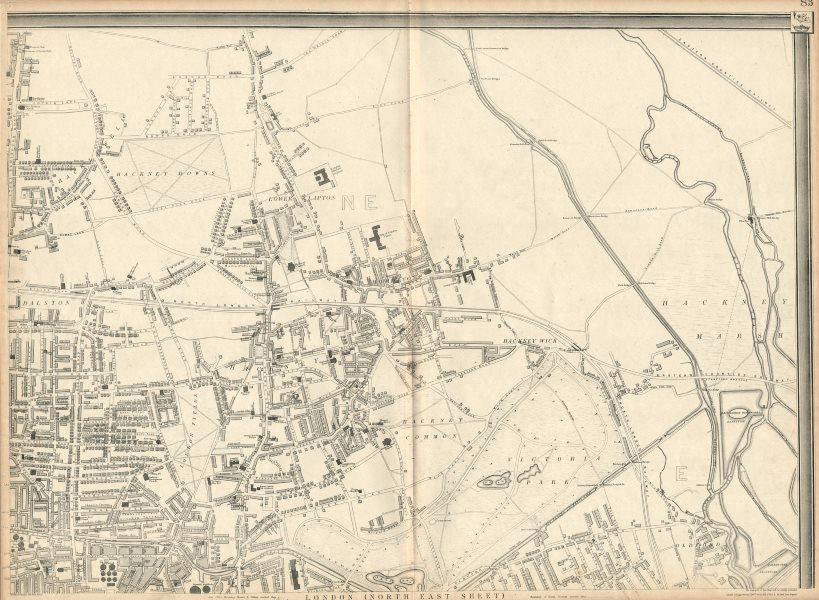 Associate Product 'CASSELLS LONDON NE. Hackney Old Ford Dalston Homerton Clapton. WELLER 1863 map