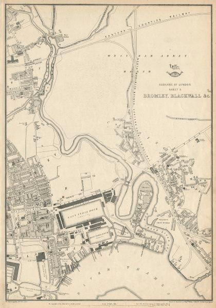 Associate Product E LONDON. Bromley-by-Bow Blackwall Poplar Canning Town Plaistow.WELLER 1863 map