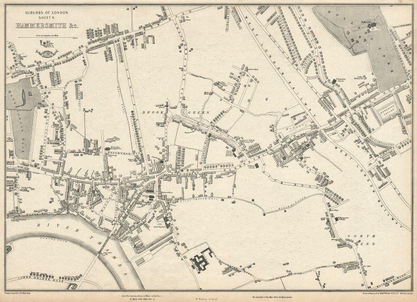 Associate Product W LONDON. Hammersmith Holland Park Brook Green West Kensington. WELLER 1863 map