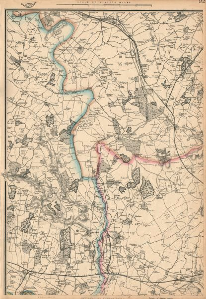 Associate Product COLNE VALLEY Uxbridge Rickmansworth Watford Amersham Chalfonts. WELLER 1863 map