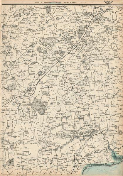 Associate Product ESSEX. Brentwood Chelmsford Chipping Ongar Billericay Basildon. WELLER 1863 map