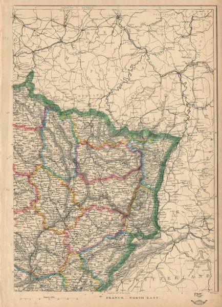 Associate Product FRANCE NORTH EAST. Alsace Lorraine. Rhin Vosges Saone Doubs. JW LOWRY 1863 map