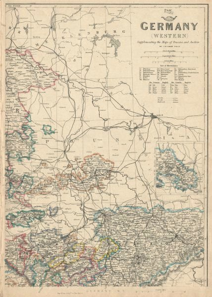 Associate Product GERMANY NORTH EAST. Saxony Weimar Altenburg Anhalt. JW LOWRY. Dispatch 1863 map
