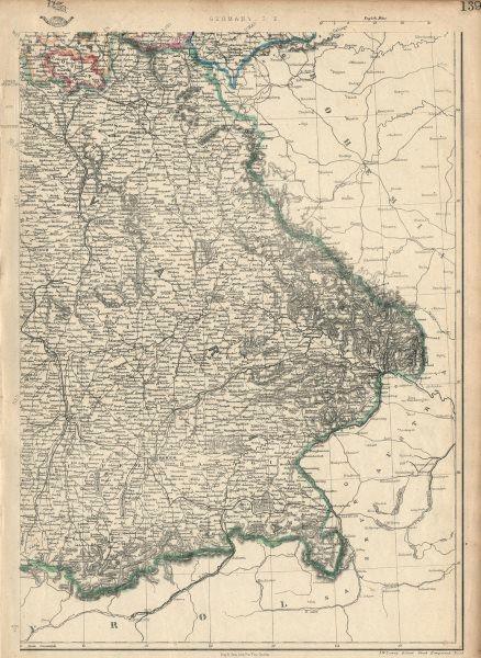 Associate Product GERMANY SOUTH EAST. Bavaria Bayern. Railways. Munich Munchen. JW LOWRY 1863 map