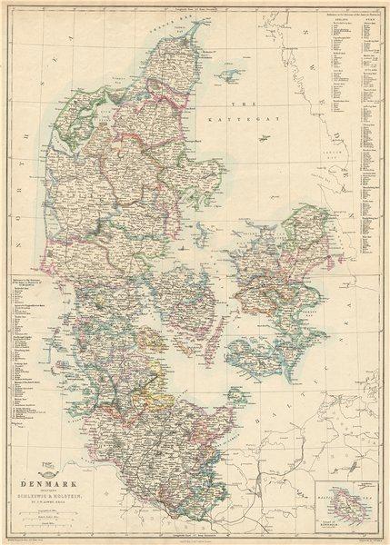 Associate Product 'Denmark including Schleswig & Holstein' JW LOWRY. Dispatch atlas 1863 old map