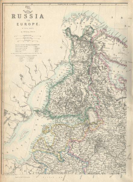 Associate Product FINLAND/BALTICS. Esthonia Livonia Courland Latvia. St Petersburg.LOWRY 1863 map