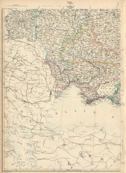 Associate Product RUSSIA IN EUROPE SW. Ukraine & Poland. JW LOWRY for the Dispatch atlas 1863 map