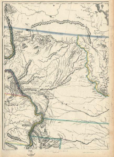 Associate Product USA PLAINS Minnesota/Nebraska Territories 'Kanzas' ND SD WY MT.ETTLING 1863 map