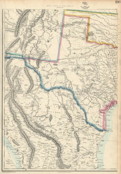 Associate Product USA SOUTH. Texas New Mexico. Gadsden purchase shown as Arizona.ETTLING 1863 map
